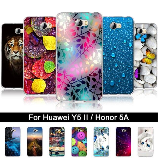 TPU Case For Huawei Y5 2 II / Honor 5A 3D Painted Soft Silicone Cover For Huawei Y5 II Y5II / Honor 5 A cun-u29 Back Phone Shell