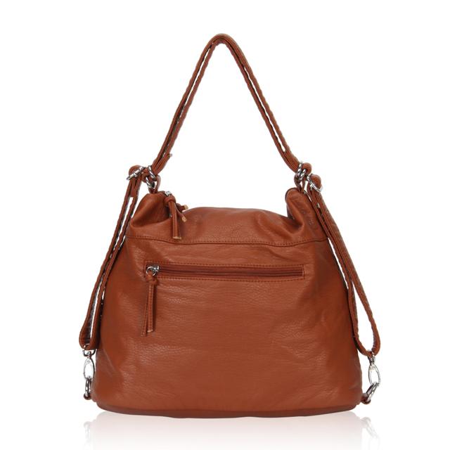 2016 New Designer Brown Leather Handbags For Women Fashion Shoulder Handbags Street Casual Style Bag Top Quality Handbags Female