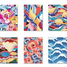 Abstract Art Diamond Painting Colorful Sea Wave Landscape Wall Canvas Flowers Nordic Pictures Mosaic