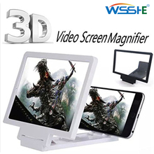 Mobile phone screen not 3D amplifier magnifier Amplification 8 inch Universal for all Folding  expander stand