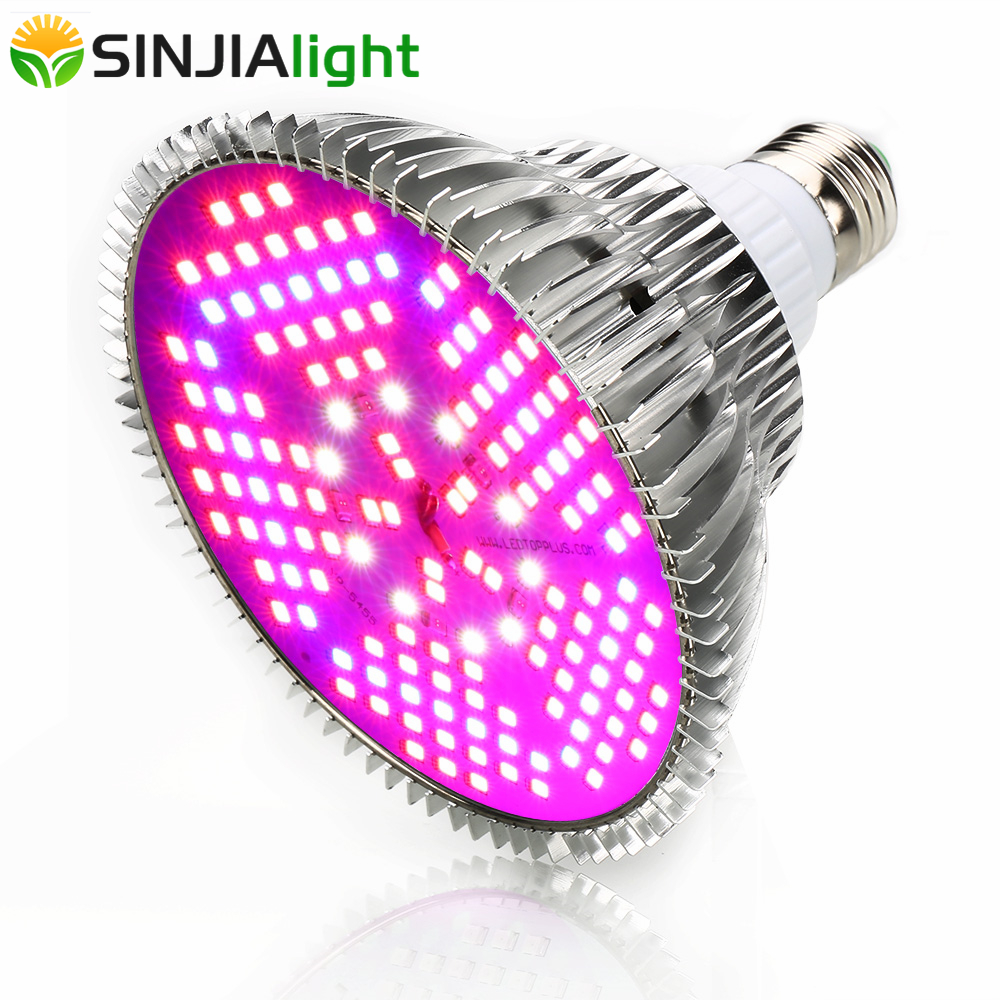 SINJIAlight 100W Full Spectrum LED Grow Light 150LEDs Lamp Bulb For Plants Aquarium