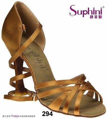 Free Shipping Suphini Basic 5 Straps Design Latin font b Salsa b font font b Shoes
