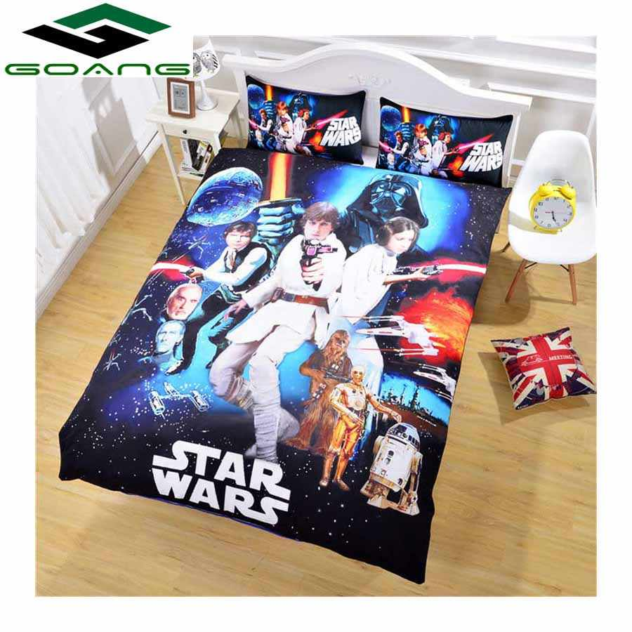 GOANG 3d bedding sets bed sheet duvet cover pillow case digital printing Star Wars king size bedding set Home textile hot sell