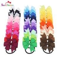 30 pièces/ensemble Coloré fleurs 30 couleurs enfants fille De Mode élastique cheveux bandes motif floral enfants cheveux accessoires FS053