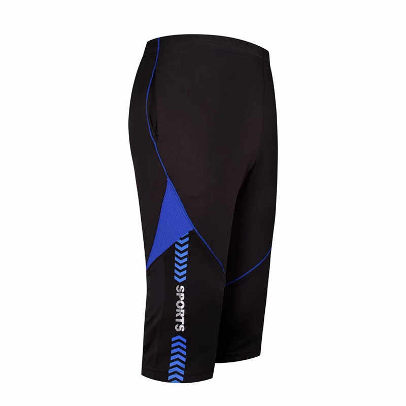 2018 Dos Homens Novos Calça de Corrida de Treinamento de Futebol Calças Cortadas 3/4 leggings Finas Calças De Fitness Esportes Sweatpants Jogging Futebol