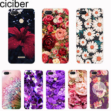 ciciber Cover For Redmi 6 5 4 3 A X S Plus Pro S2 Phone Cases For Redmi Note 7 6 5 4 X A Pro Soft TPU Plant Floral Rose Shell(China)