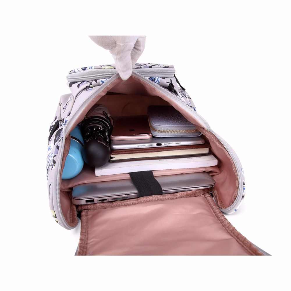 6c3d7df474 ... KONO 3 Pieces School Bags for Teenage Girls Women Flower Canvas Big  Backpacks Laptop Padded Shoulder ...