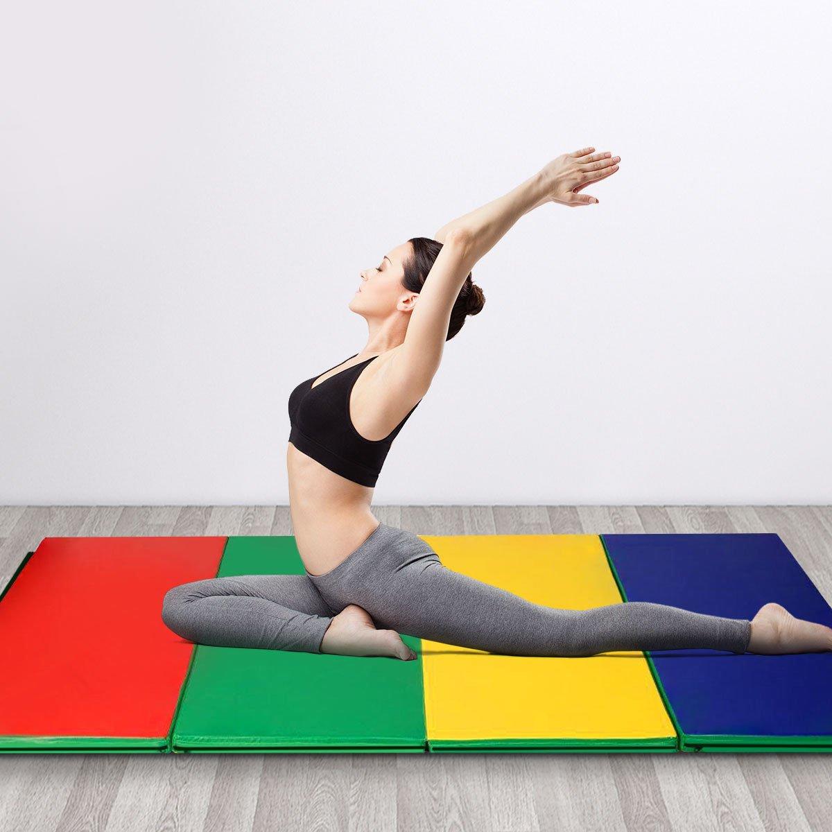 180X120X5cm Gymnastic Folding Gymnastics Panel Gym Exercise Yoga Pad Tumbling Fitness Mat Outdoor Camping Damp Proof Yoga Mat