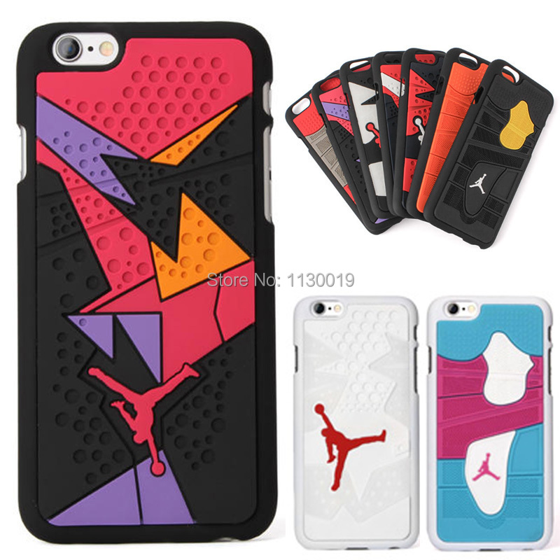 detailed look a84cd 7e03a US $4.1 18% OFF|3D Air Jordan Shoe Sole PVC+Rubber Case For iPhone6  Plus/iPhone6s Plus, AJ jumpman Back Cover case, Mobile Phone Cases,Free  Ship-in ...