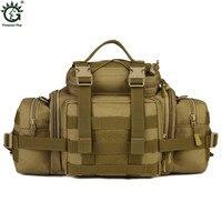 1000D Nylon Military Assault Waist Fanny Pack Men Travel Messenger Shoulder Bags Water Bottle Kettle Bags DSLR Camera Handbag