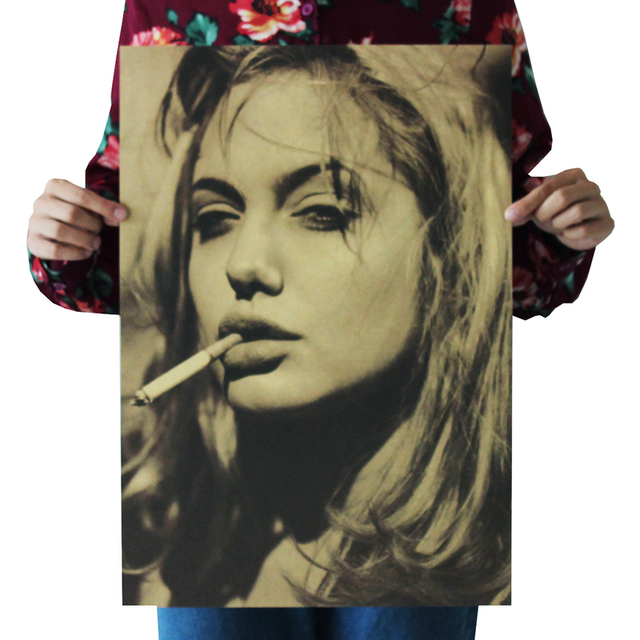 1PC Retro Michael Jackson Monroe Jolie Lady Gaga Scarlett Schwarzenegger Poster Adornment Vintage Posters Decorative Painting