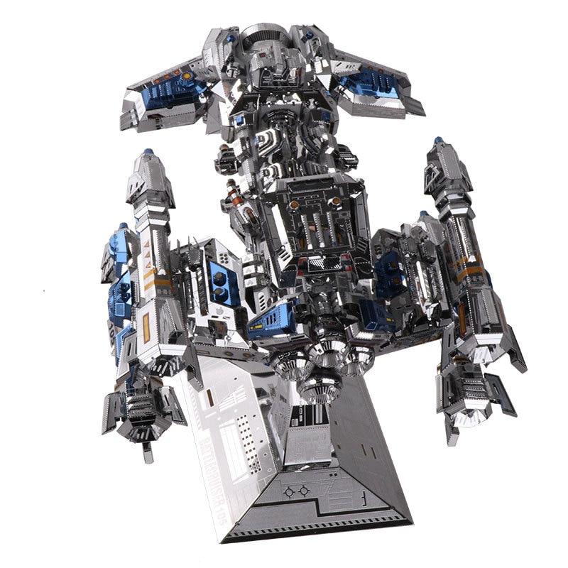 MU 3D Metal Puzzle Star Craft multicolour battlecruiser DIY 3D Laser Cut Assemble Jigsaw Toys Desktop