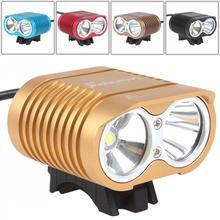 ФОТО securitying 1800lm 2 x xm-l2 u2-1a led bike light bicycle light with long / short range + 4000mah rechargeable battery