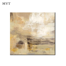 Professional Art Handmade Abstract Yellow Gray painting On Canvas Poster Wall Art Picture for Living Room Home Decor no frame(China)