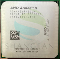 Free Shipping For Athlon II X3 445 3 1 GHz Triple Core CPU Processor ADX445WFK32GM Socket