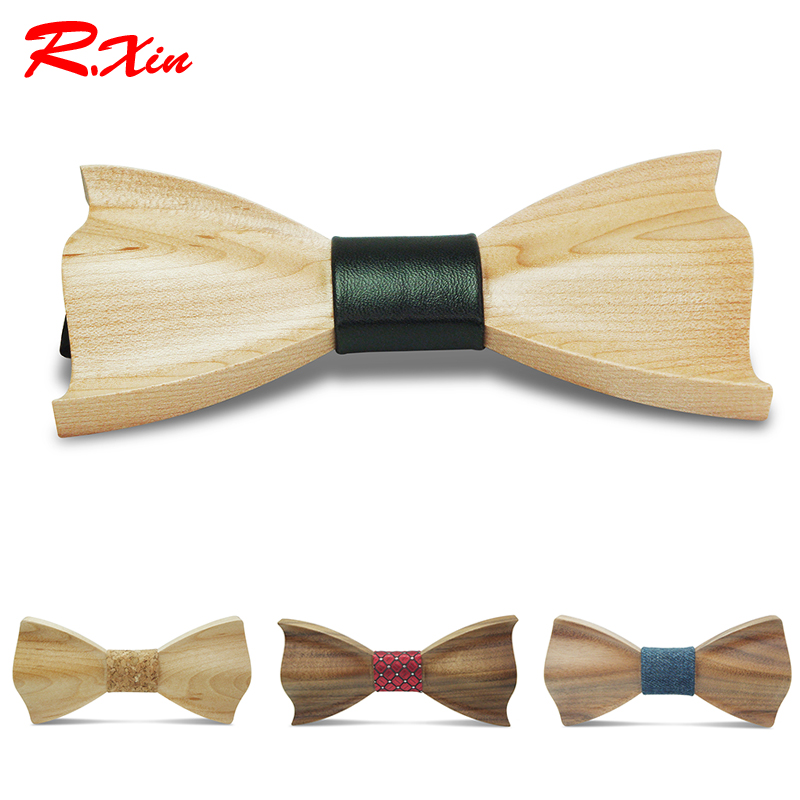 2016 Novelty three-dimensional Wood Bow Tie For Men Weeding Classic Wood Bowtie Wood 3D Handmade corbata Wooden Ties Gravata