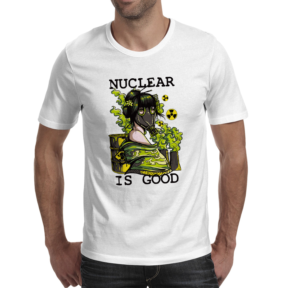 Nude Nuclear Is Good T-shirt Hip Hop Funny Anime Short Sleeve T Shirt Summer Style Punk Skate Print Women Men Top