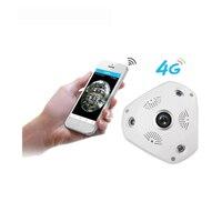 3g/4G Беспроводной 360 градусов панорамный Мобильная IP камера с 3MP сигнализации VR Камера наблюдения используется как WI FI точки доступа бесплатн