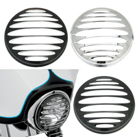 7 CNC Metal Round Headlight Grill Cover for Harley Road King Electra Glide Dyna Super Wide Glide FXDWG Low Rider Fat Street Bob
