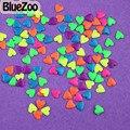 BlueZoo Novo 1000 unidades/pacote Mix Cores 4mm Neon Pregos Coração de Metal Nail Art Decoração Metálico Para DIY 3D Acrílico