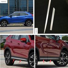 Lapetus Accessories Fit For Mitsubishi Eclipse Cross 2018 2019 Side Door Molding Body Strip Streamer Protection Cover Kit Trim