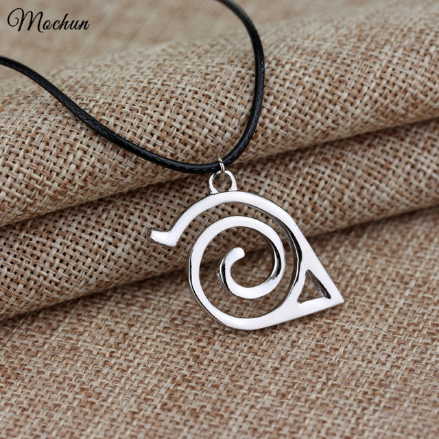 Trendy Fashion New Naruto Pendant Necklace Double Bands Konoha Sign For Men And