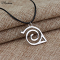 Trendy Fashion New Naruto Pendant Necklace Double Bands Konoha Sign For Men And Women Wholesale And Retail