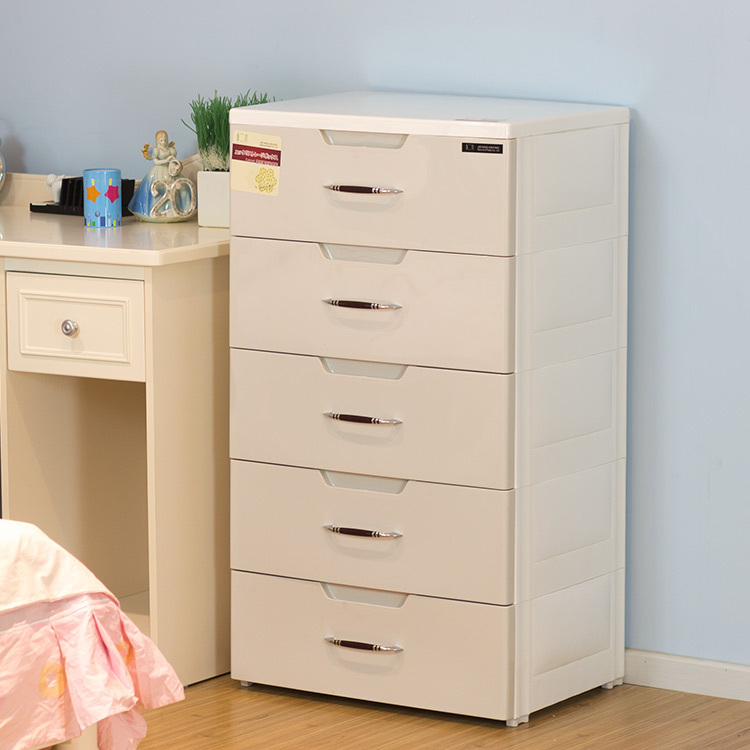 Plastic Drawer Lockers Baby Wardrobe Cabinet Finishing