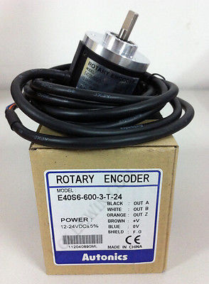 Autonics Roatry Encoder NEW in Box E40S6-600-3-T-24 Alto Knicks AUTONICS encoder E40S6 600 3 T 24, E40S6/600/3/T/24 ts5312 n616 2000c t bender dedicated encoder
