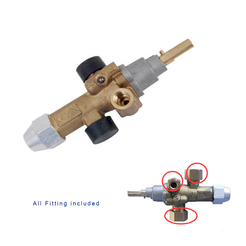 EARTH STAR Gas Cooking Appliance Flam Failure Gas Valve /  catering equipment valve with NUTS and Olive promotion price