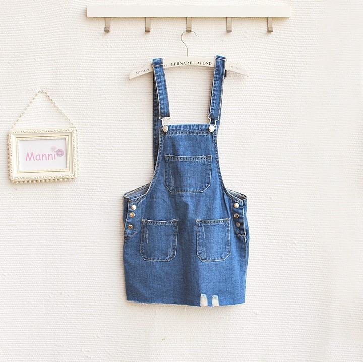 Free shipping New Fashion Denim suspender overalls Casual Women Dresses