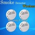 Venta caliente Wireless Detector de humo alarma de Sensor para interiores seguridad en el hogar seguridad del jardín 4 unids