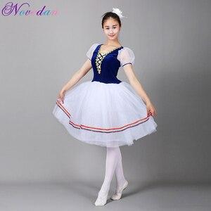 Image 1 - Giselle Ballet Tutu Lungo il Lago Dei Cigni Balletto Costume Adulti Delle Donne Professionali Vestito Romantico Ballerina Bambini I Bambini Dancewear