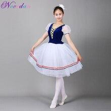 Giselle tutú de Ballet largo del lago de los Cisnes, disfraz de Ballet para adultos y mujeres, vestido romántico profesional de bailarina, ropa de baile para niños