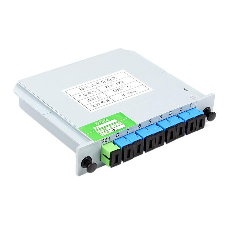 1 X 8 Sc/upc Branching Fiber Optical Box Splitter Cassette Card Insertion Type Abs Plc Splitter Box,ftth 1x8 Sc Upc Planar Wav To Enjoy High Reputation At Home And Abroad