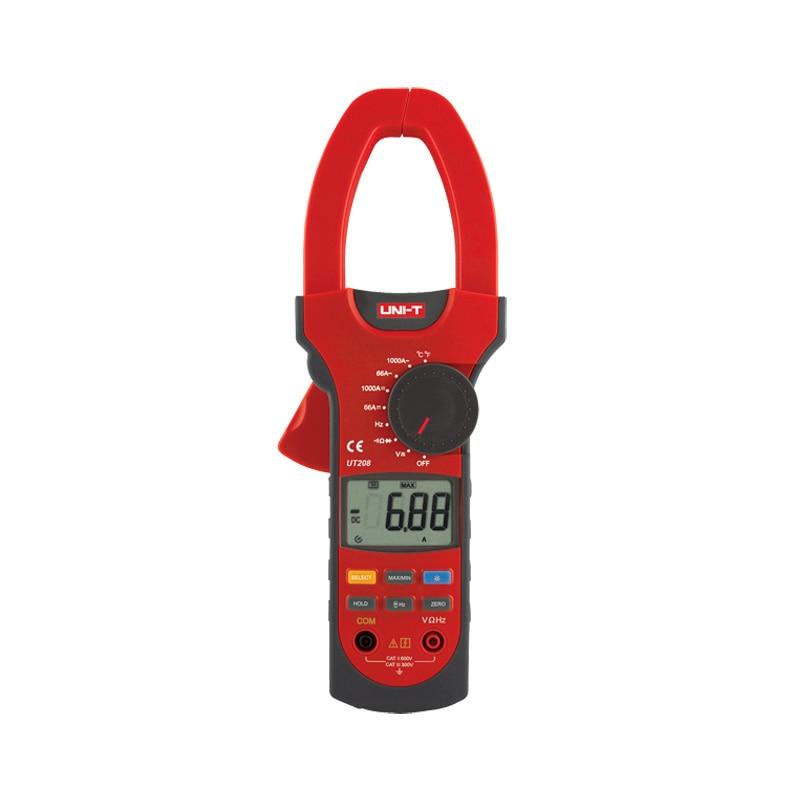 UT208 3 5/6 Digital Auto Range Digital Clamp Multimeters 1000A 600V True RMS Clamp Meter UNI-T Ammeter Voltmeter Thermometers