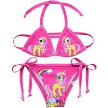 Модель года, купальные костюмы для девочек из двух предметов, костюмы-бикини летняя пляжная одежда для девочек возрастом от 3 до 10 лет красивые купальные костюмы с героями мультфильмов одежда для купания, G48-CZ946 для девочек