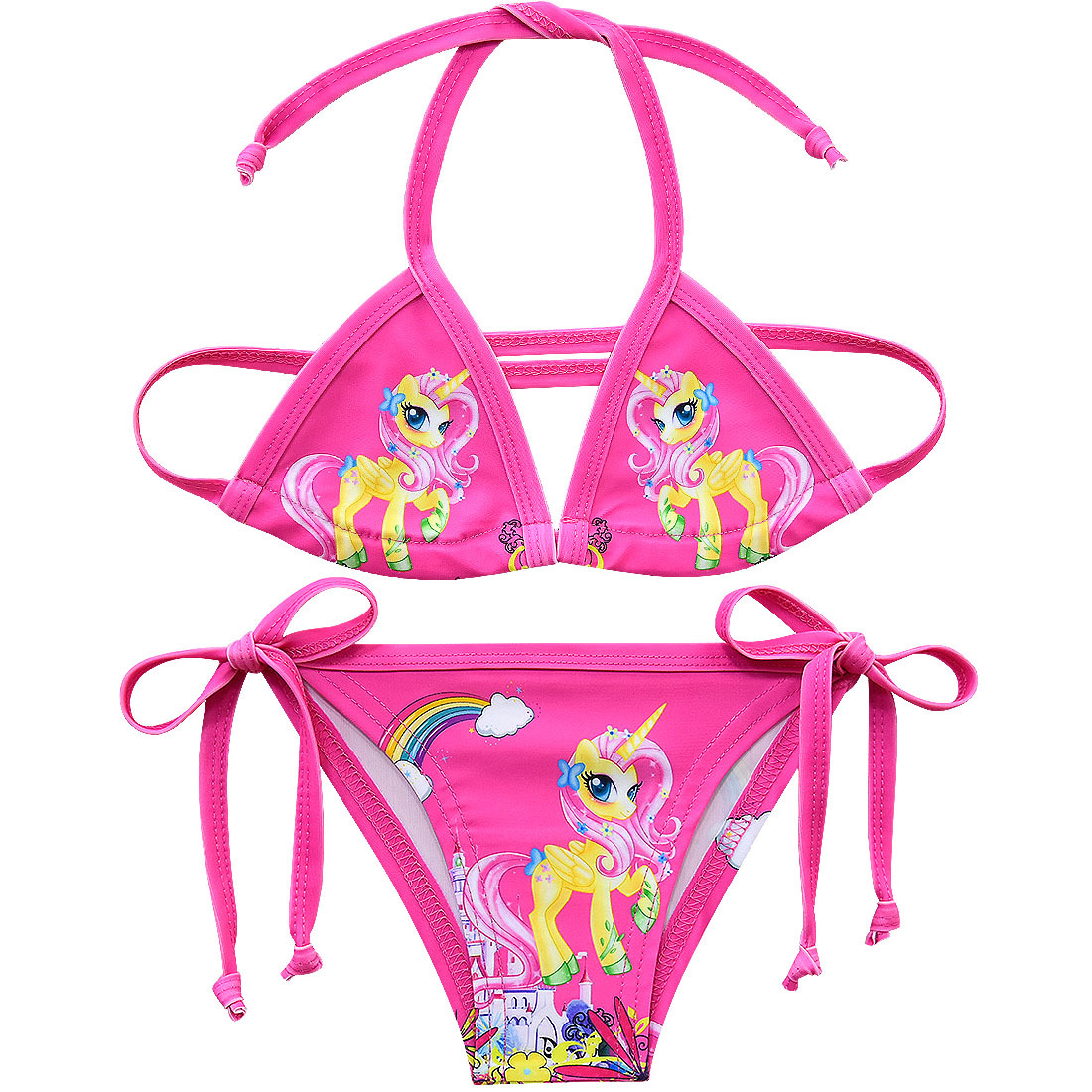 2019 Girls Swimsuits Two-pieces Bikini Suits 3-10y Girls Summer Beach Wear Lovely Cartoon Bathing Suits Swimwear Girl G48-CZ946