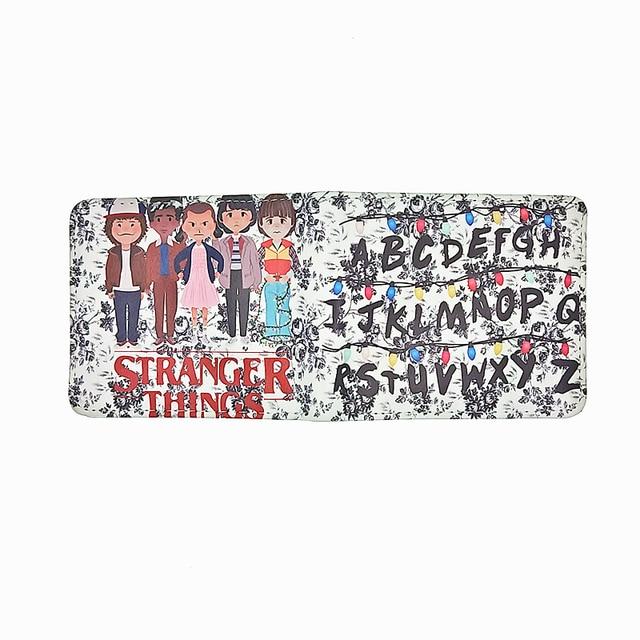 Serial drama Stranger Things cion zipper purse Letters children wallet card holder wallets purchase carteiras Kids Wallets