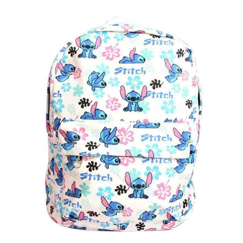 d99f4fc82f9e Cute Lilo & Stitch Plush Backpack Kawaii Canvas Stitch Stuffed Bag Shoulder  Bags Children Schoolbag for Girls/Boys/Kids Gifts