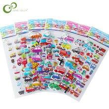 5 yaprak karikatür trafik otomobil araç kendin yap çıkartmalar oyuncaklar PVC karalama defteri çocuk günlüğü dizüstü dekorasyon hediyeler GYH