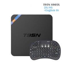 T95N Мини Android 6.0 TV Box Amlogic S905X quad-core 2 г/8 г Коди 16.0 Smart TV коробка с i8 Беспроводной пульт дистанционного управления