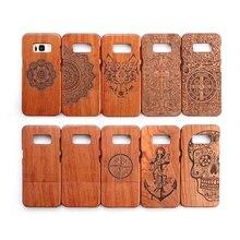 Горячий Телефон Капа Samsung Galaxy S8 Деревянные Случай 100% Оригинал настоящая Деревянная Задняя Крышка Жесткий Телефон Coque для Samsung S8 Плюс