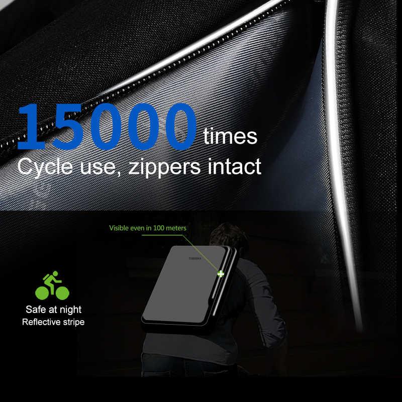 Baru Tigernu Pria Ransel 4.0A USB Pengisian Cepat Anti Pencurian Ransel Pria untuk 15.6 Laptop Perjalanan Bisnis Bagpack Pria Mochila