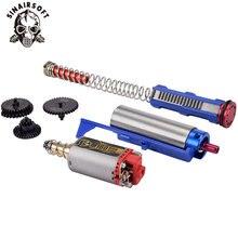 SINAIRSOFT Motor Getriebe Set 14 Zähne Kolben Zylinder Set Frühling Guide Stößel Platte Düse Für Airsoft AEG M4 Getriebe Zubehör