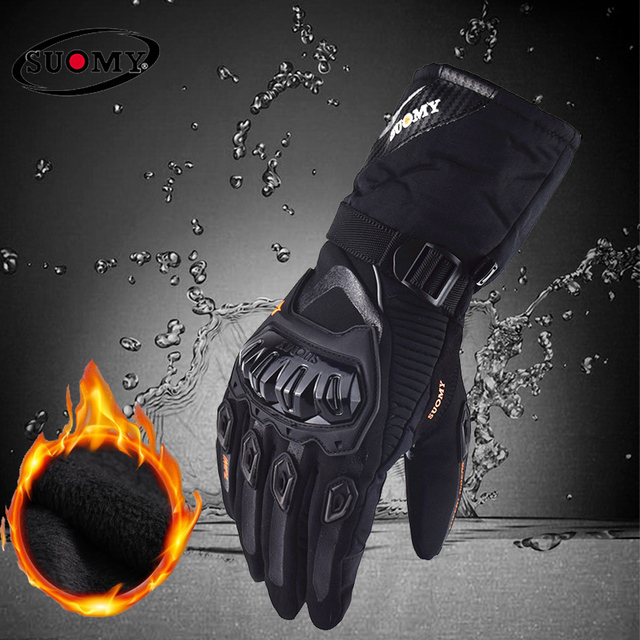 Suomy darmowa wysyłka zimowe ciepłe moto rcycle rękawice 100% wodoodporne wiatroszczelne Guantes rękawice motocyklowe ekran dotykowy Moto siklet Eldiveni