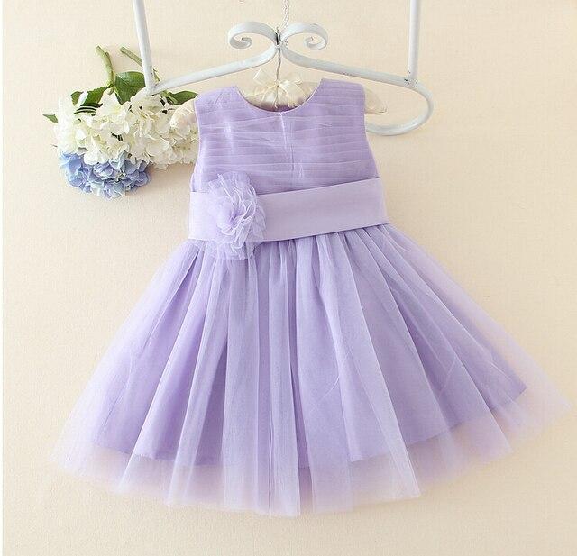 31669d1a31c7 Bleu   violet fleur fille robes de baptême bébé première Communion ...