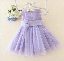 27f850f712d090 Blauw paars bloem meisje doopkleedjes baby eerste communie jurk peuter doop  jurk