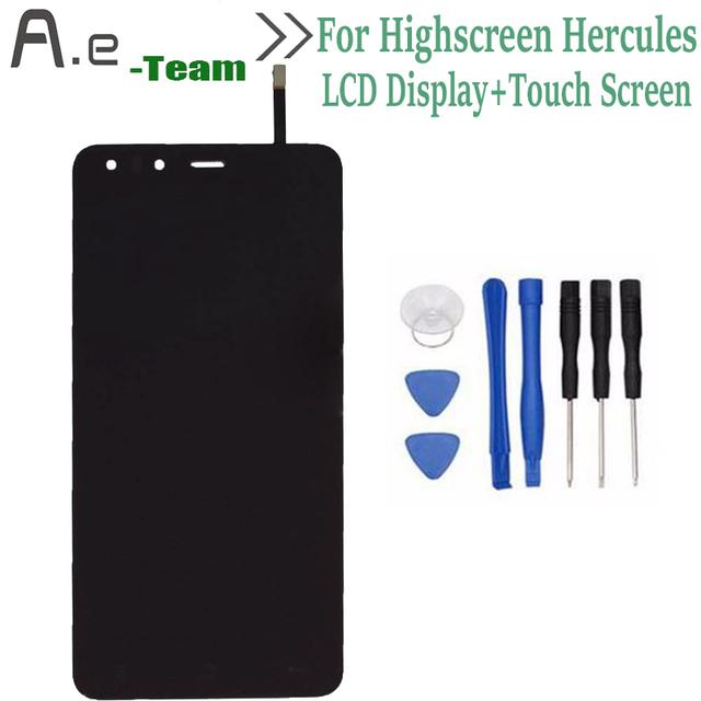 Alta Qualidade Para Highscreen Hercules Display LCD + de Toque Substituição Digitador Da Tela Para Highscreen Hercules 5.0 polegadas telefone + Ferramentas