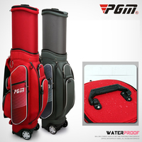 Waterproof Golf Bags with Wheels Retractable Standard Caddy Bag Can Hold Complete Golf Set Bag Nylon Golf Cart Package D0480